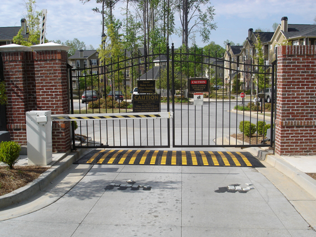 speed hump at a gated community