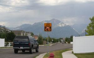 SafePace radar sign on Municipal street