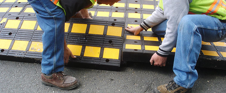 Traffic Logix Speed Hump Installation