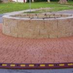 SuperFlex rubber curb installation