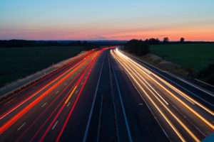 Speeding Car lights Highway