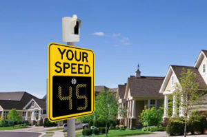 safepace radar sign and guardian speed awareness camera