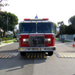 Emergency Vehicle rolling over speed cushions
