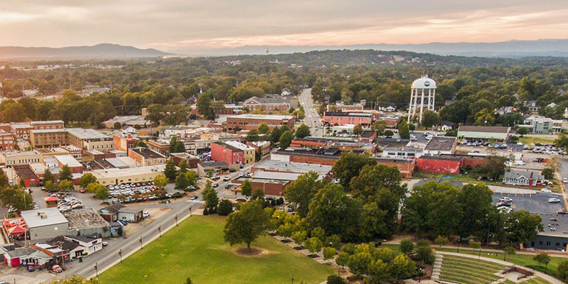 Aerial view of SC