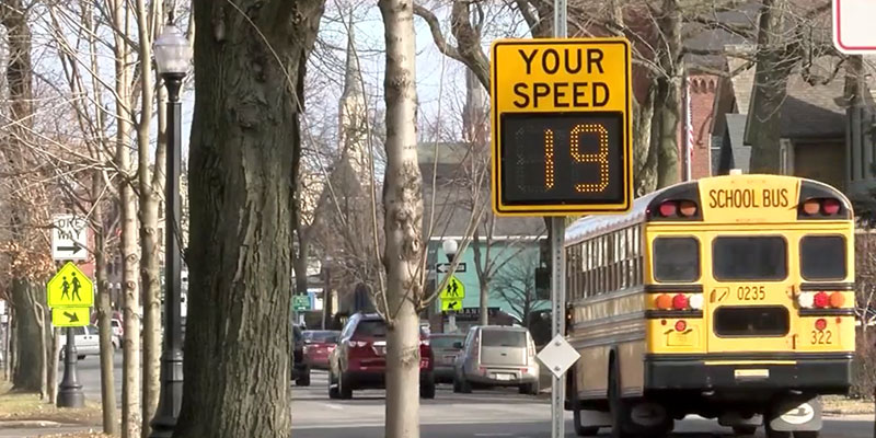 Radar Speed Sign in School Zone